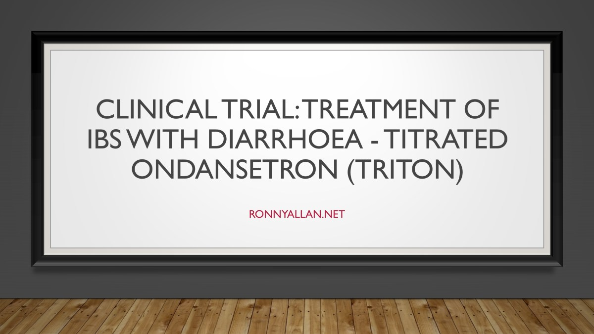 Clinical Trial: Treatment of IBS with diarrhoea - titrated ondansetron (TRITON)
